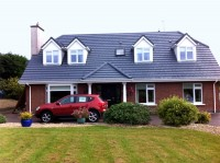 After treating, cleaning and painting the roof of a house black  in Cork by Pro Wash.ie, Roof treatment specialists, Ireland