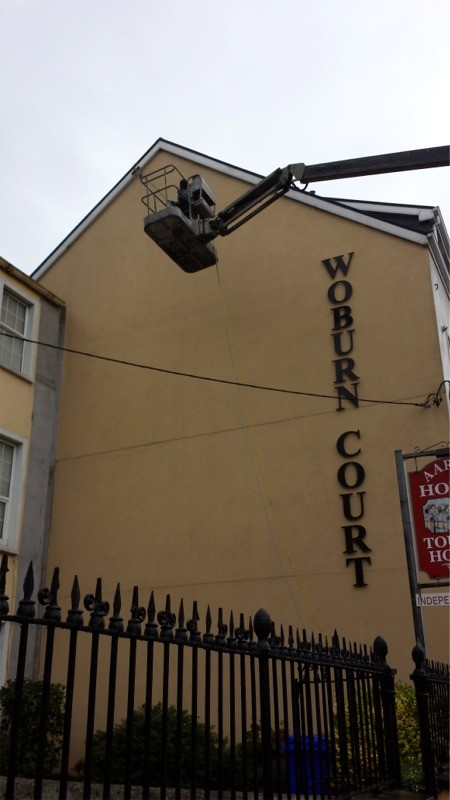 During cleaning of Woburn Court, Cork  by Pro Wash,  Roof Cleaning & Soft Washing, Ireland